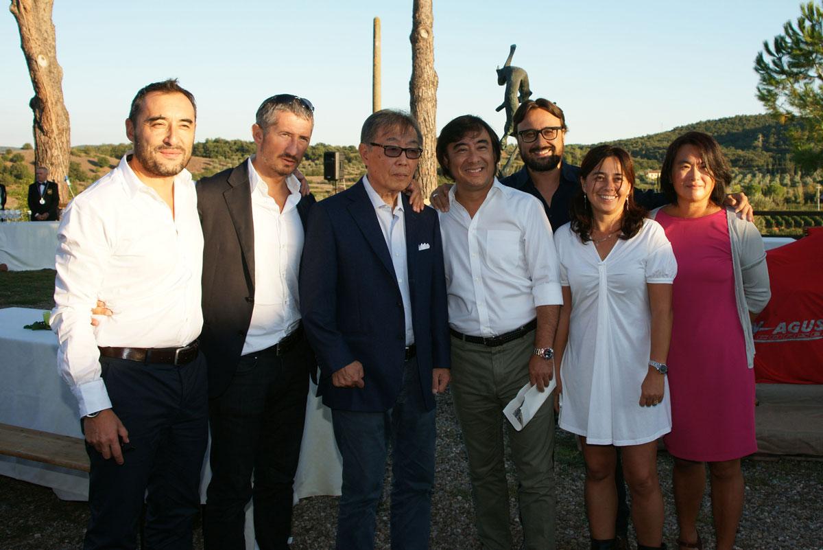 Miyakawa e la sua famiglia